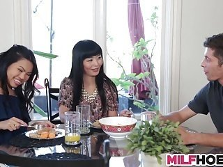 Getting Seduced By Asian Mom And Her Stepdaughter