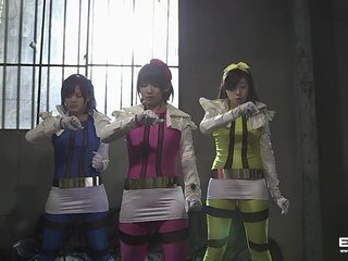 Cute teen Japanese power rangers fucked