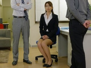 Office slut Melia Rika gets fucked super hard and squirts