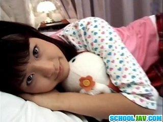 Asian schoolgirl fucked next to sleeping mother