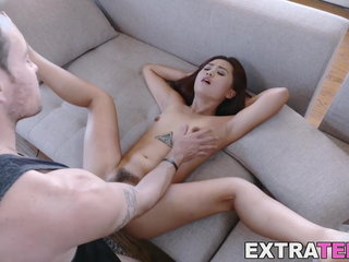 Lil' Japanese sweetheart dicked and facialized in threesome
