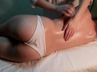 My apprentice learns to do stroking massage