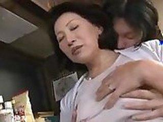 Asian fucks mature milf in the ass