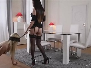 Hot Asian Dominatrix Fucks Her Blonde Slave With Strap-On - AsianBondageTube.com