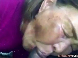 Asian Granny Sucks Black Cock In The Car