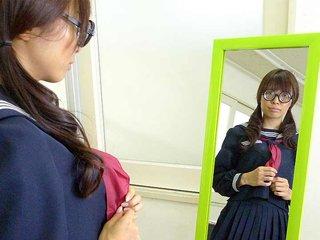 Azusa Misaki in uniform fucked at school